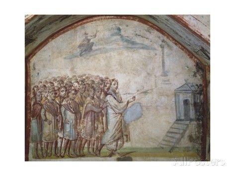 The Raising of Lazarus, Catacombs of Via Latina, Rome Giclee Print