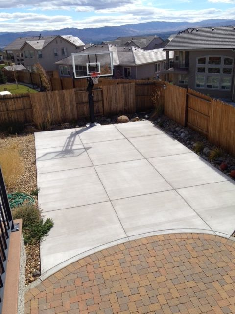 Half Basketball court, can add on concrete and paint in and add ...