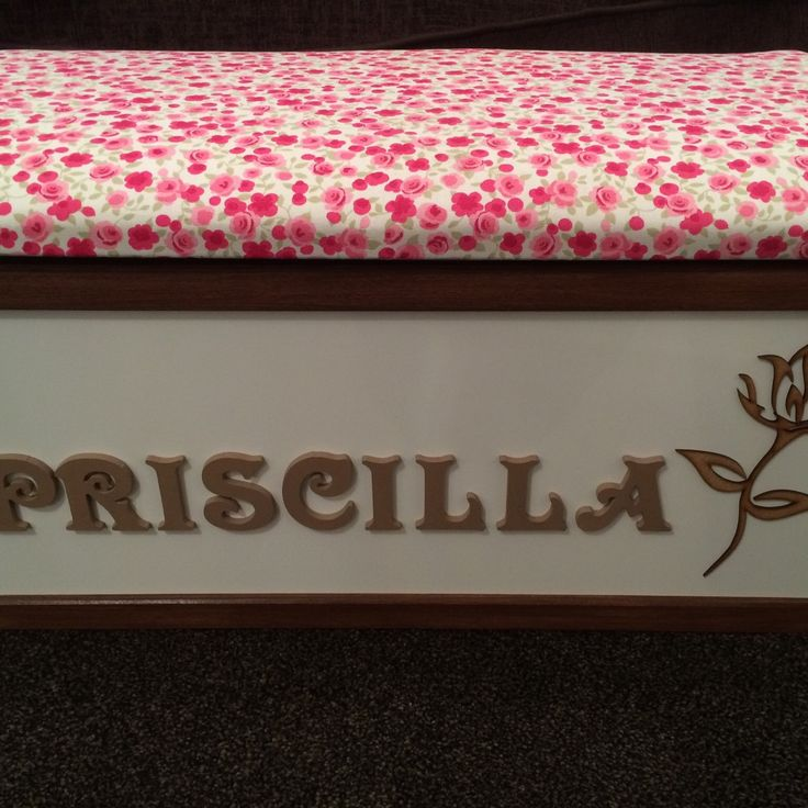 💗Super cute personalised toy box💗 £10 off all Toy Boxes until The end of April👍 www.etsy.com/uk/shop/littlebowchicgifts