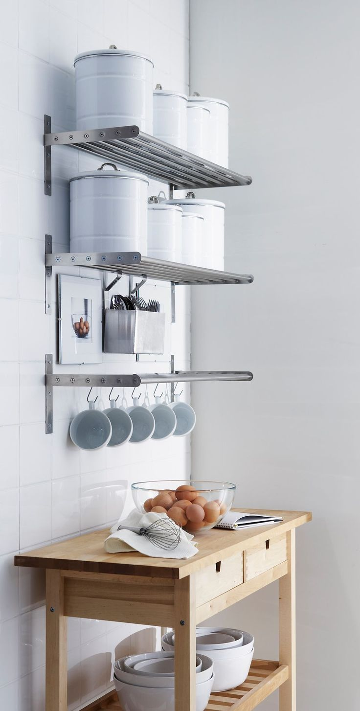 Maybe shelves like this above my coffee stations?? 65 Ingenious Kitchen Organization Tips And Storage Ideas