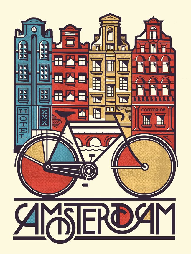 When I think of Amsterdam, I think of bicycles - Pavlov Visuals  Coffrets cadeaux Flying Pass, www.flyingpass.fr                                                                                                                                                      Plus