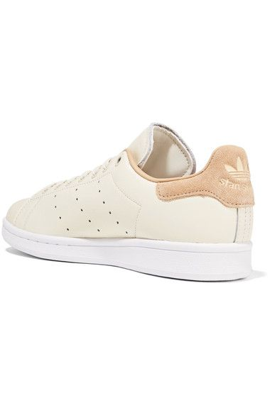 adidas Originals - Stan Smith Suede-trimmed Leather Sneakers - Off-white - US5.5