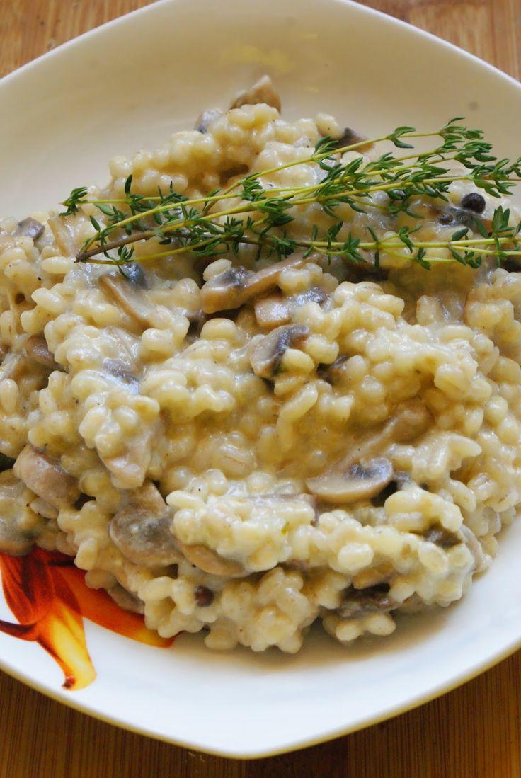 Kaszotto z pieczarkami - 365 dni dookoła kuchni.