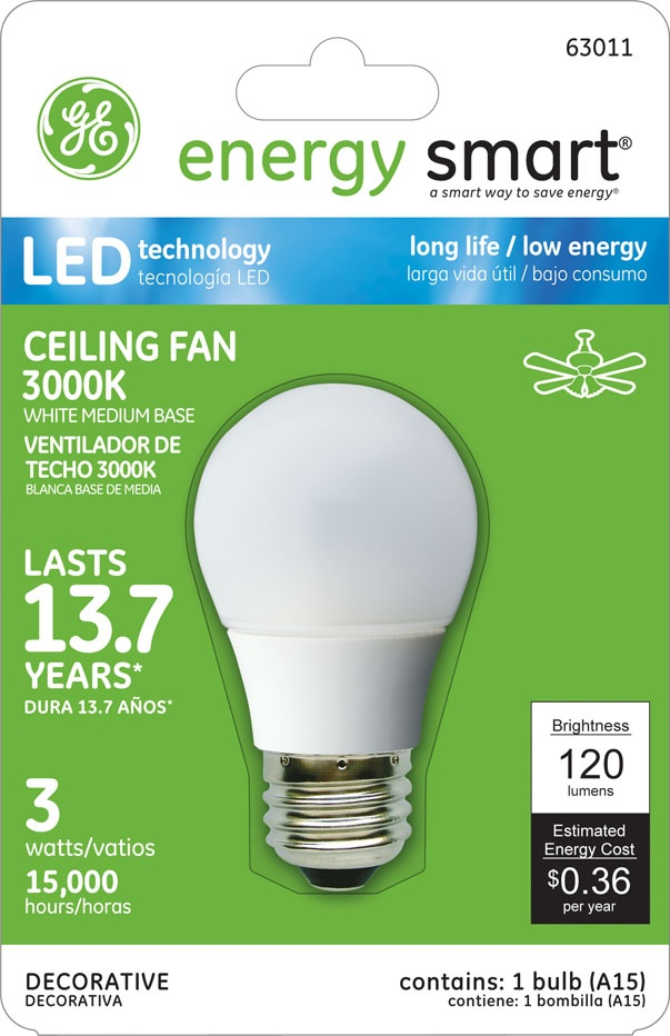 GE Energy Smart 10W Replacement (1.8W) Globe G16.5 LED Bulb (Warm, White, Energy Star) $19.95