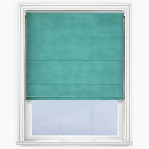 Touched by Design Accent Teal Roman Blind