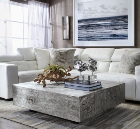 Cast From Reclaimed Old Oak Beams Our Silver Leaf Timber Coffee Table Will Give Your Living Room The Statement Piece It Needs Shop Z Gallerie Today