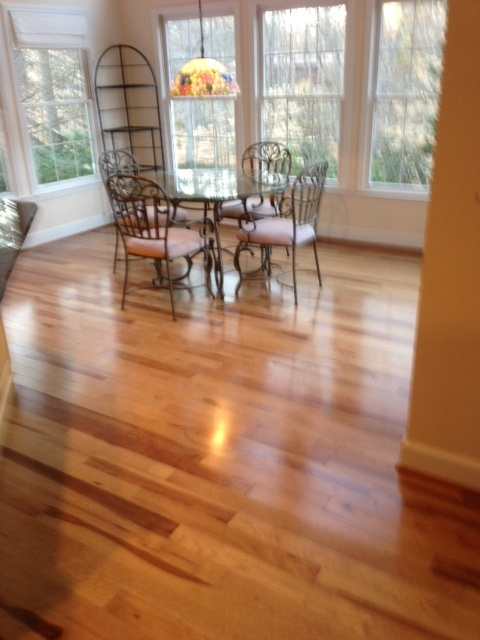 Mohawk Hickory Color Golden Caramel Hardwood Floors