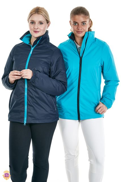 Sherwood Forest Hylands jacket SF-LW-2929 waterproof & breathable Soft touch fabric, front pockets, Sherwood signature embroidery Colours: Dark navy & Lake blue