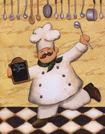 Le Chef Et Le Menu by Daphne Brissonnet art print