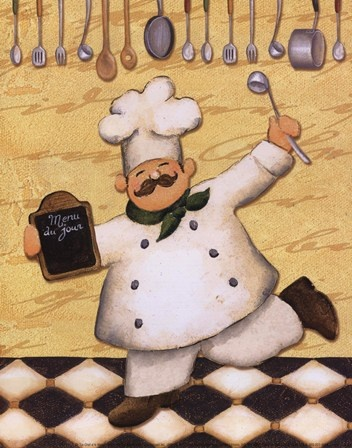 Le Chef Et Le Menu by Daphne Brissonnet art print
