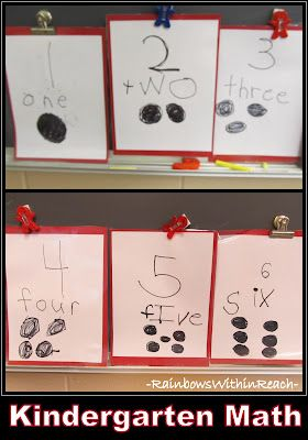 "Kindergarten ""Counting"" and Numeracy. Will have something similar displayed in my classroom next year-children help make it :)"