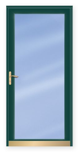 Andersen - Storm Doors - Contemporary Deluxe Interchangeable Fullview with Tempered Low-E Dual-Pane Insulating Clear Glass Storm Door.