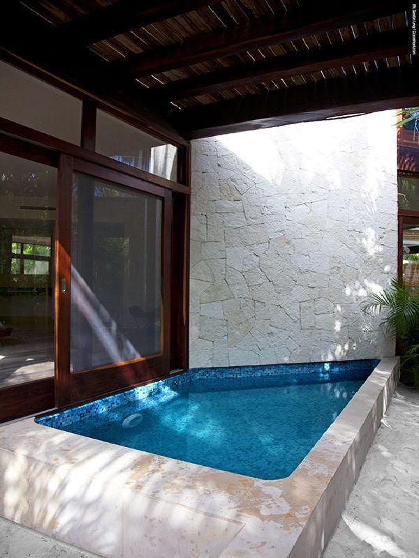 24 Best Concrete Tank Pool Images On Pinterest Small Pools Architecture And Backyard Ideas