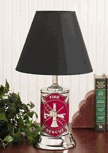 Fire Department Diamond Plate Lamp w/Black Shade.  Get yours at: http://rcm-na.amazon-adsystem.com/e/cm?lt1=_blank&bc1=000000&IS2=1&bg1=FFFFFF&fc1=000000&lc1=0000FF&t=howecahaital-20&o=1&p=8&l=as4&m=amazon&f=ifr&ref=ss_til&asins=B00681IE1C