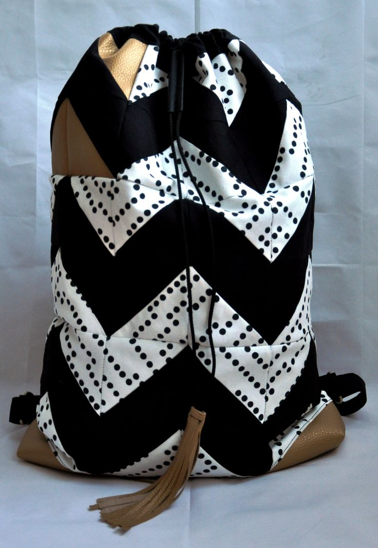 Chevron quilting backpack
