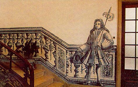 Azulejos - Instituto de Odivelas Figura de Convite - escadaria