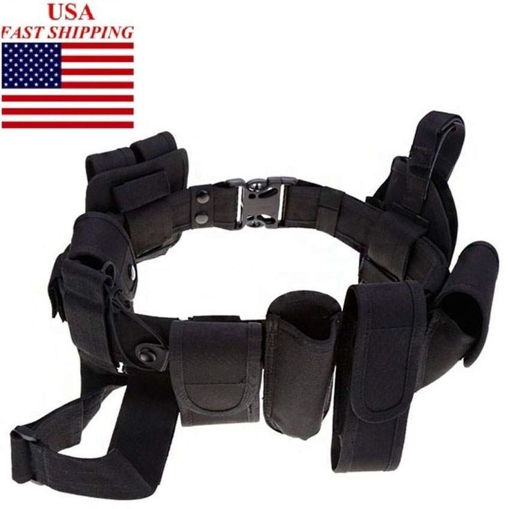 Police Security Guard Modular Enforcement Equipment Duty Belt Tactical  Nylon #UnbrandedGeneric