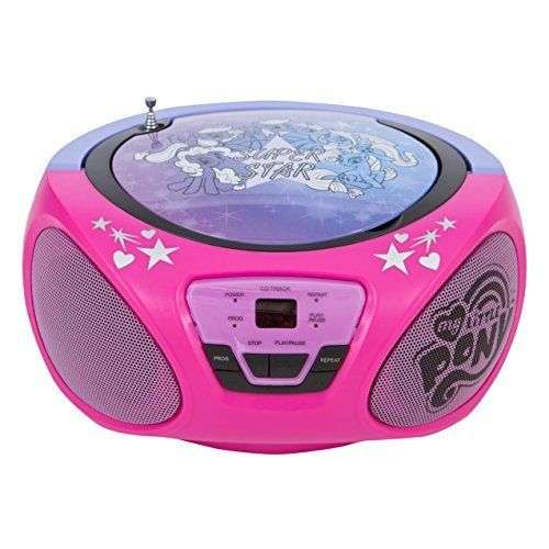 Amazing Portable My Litle Pony CD Player and Boombox Present for a Kid