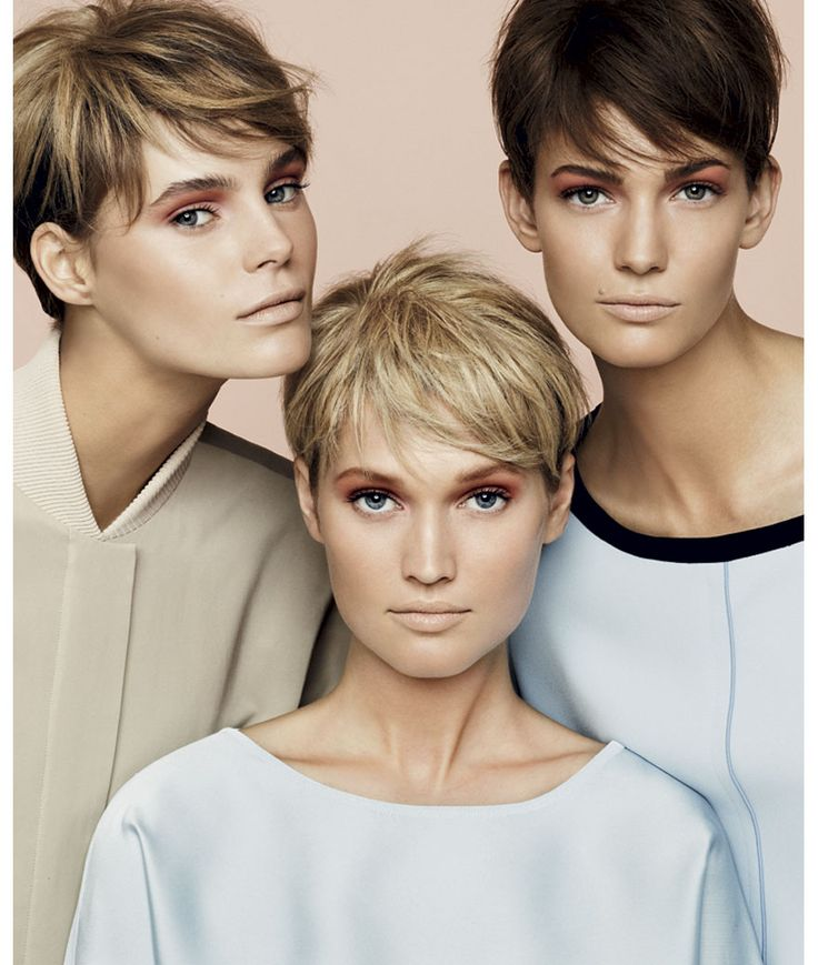 Models with short hair. So few and far between.