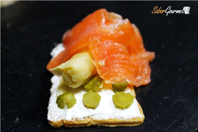 83 best images about canap s on pinterest mesas search for Canape de salmon ahumado