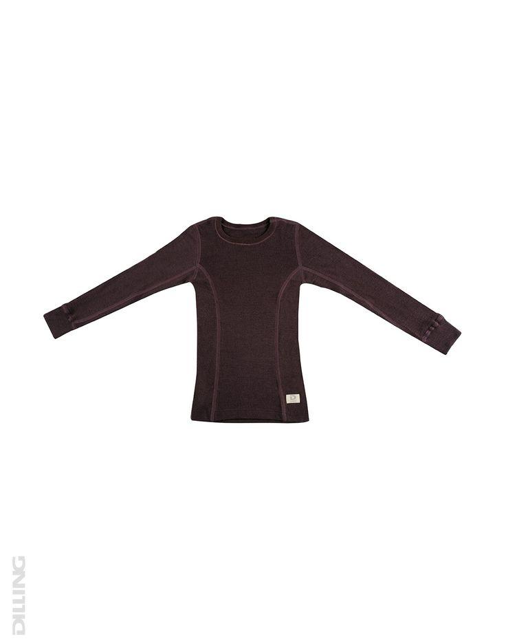 Minna: Børne trøje - økologisk merino uld mørk lilla