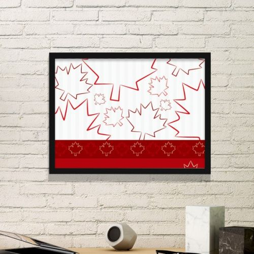 Happy Canada Day 4th Of July Maple Leaf Simple Line-drawing Simple Picture Frame Art Prints of Paintings Home Wall Decal #PictureFrame #HappyCanadaDay #ArtPrints #4thOfJuly #DecorativePainting #MapleLeaf #SimpleDesign #SimpleLine-drawing #HomeDecoration #WallDecal #PrintPainting