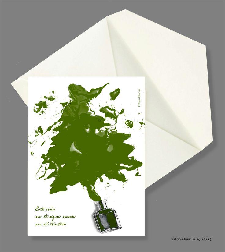 Diseño postal feliz año 2014 por grafias.