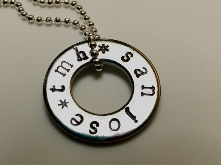 UAN Tour Necklace  (US & Canada Tour Dates), One Direction, 1D Jewelry, Tour Washer, Pendant, Hand Stamped, 1D Gift by bymissrose on Etsy