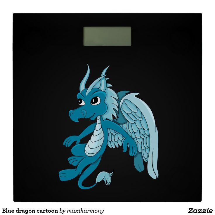 Blue dragon cartoon bathroom scale