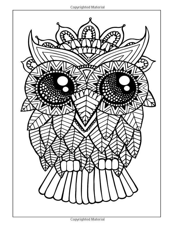 Kurby buho Color Me Hola ANGEL colorear por HelloAngelCreative - copy coloring pages of cartoon owls