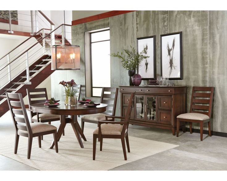 Impress Family And Guests With This Thomasville Dining Room Available From West Coast Living Round TablesDining