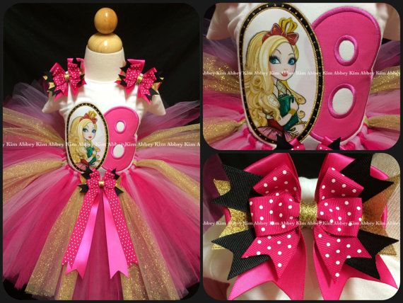 Ever After High Apple White tutu set age by Abbeykim1 on Etsy