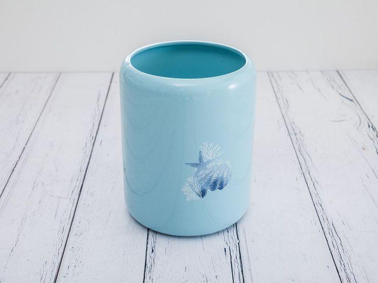 English Home Sea Seramik Banyo Çöp Kovası 20,0x20,0x25,40 Cm Açık Mavi