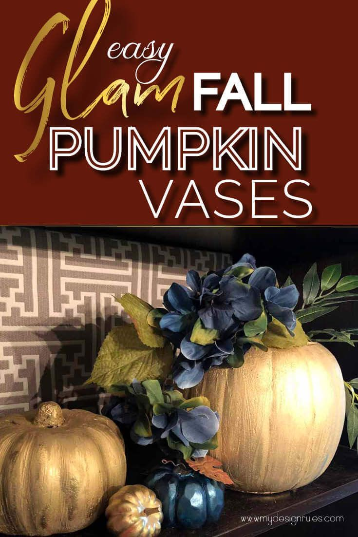Glam Fall Vase on the Cheap
