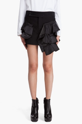 comme des garcons ruffle skirt