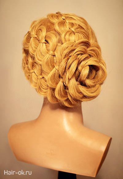3 four strand braid updo