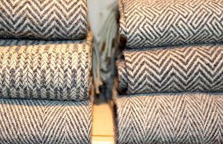 Burel (high quality wool felt) blankets.