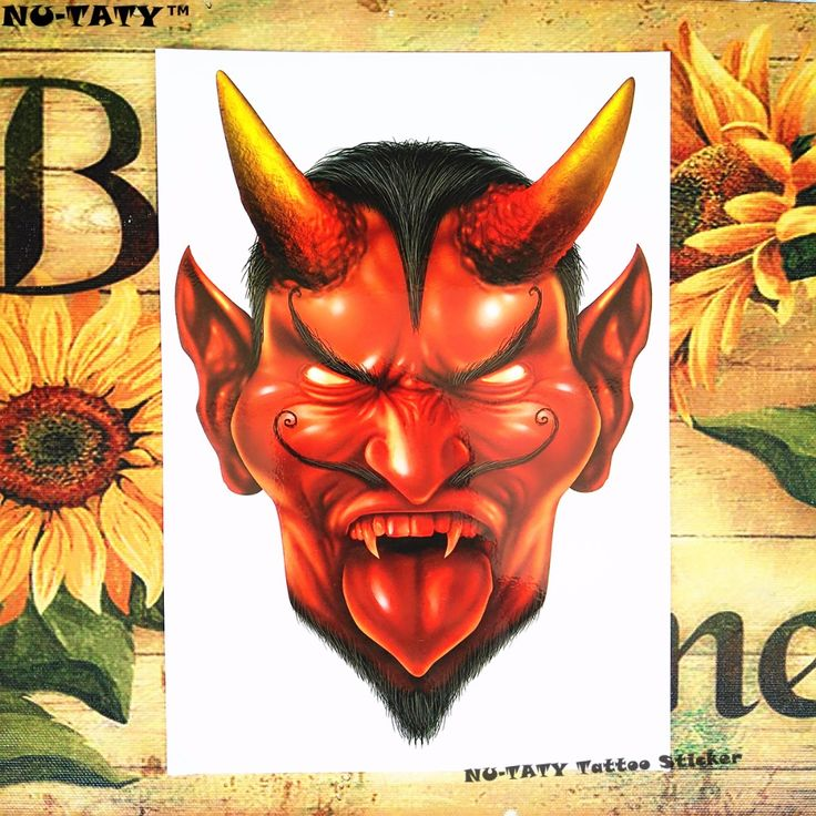 Nu-TATY Red Minotaur Temporary Tattoo Body Art Flash Tattoo Stickers 12*20cm Waterproof Henna Tatoo Styling Home Decor Sticker #Affiliate
