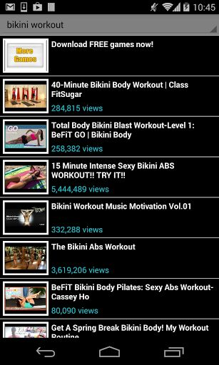 bikini workout!<br>No gym to go to? no problem, bikini workout is your own personal trainer, anywhere, any time. Get in shape, fast following any of the available videos in this app. No place and time limitations, exercise at home and feel good about your