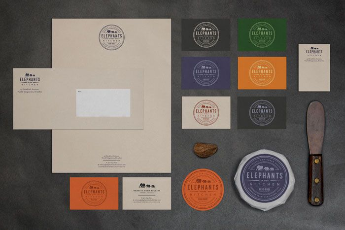 Elephants in the Kitchen, Artisan and Vegan Cheese - The Dieline - Designed by Bluerock Design, Boston