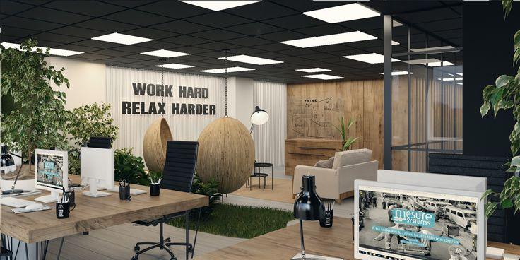 Reforma integral de un despacho en Barcelona.  El proyecto ofrece un nuevo concepto de flexibilidad que permite a los usuarios crear lugares de reunión más agradables en un entorno que recuerda la naturaleza, transmite tranquilidad y mejora la productividad, creatividad y bienestar. 314bcn