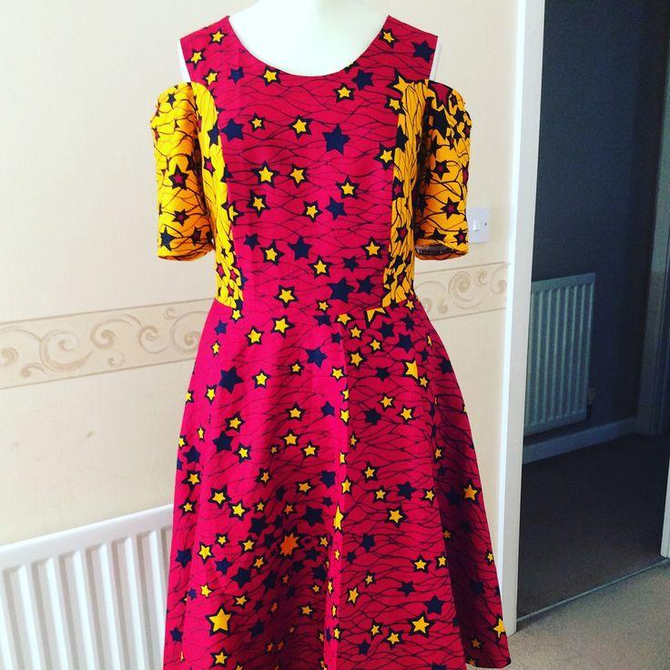 Lovely Star Ankara print dress .https://instagram.com/p/BYLrwRAn3El/