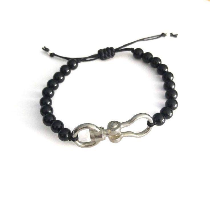 precious_handmade_jewellery#blackonyx #onyx #silver #925 #connector #industrialdesign #bracelet