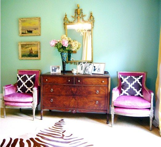 Jewel Tone Bedroom, Jewel Tone Room And Magenta Walls