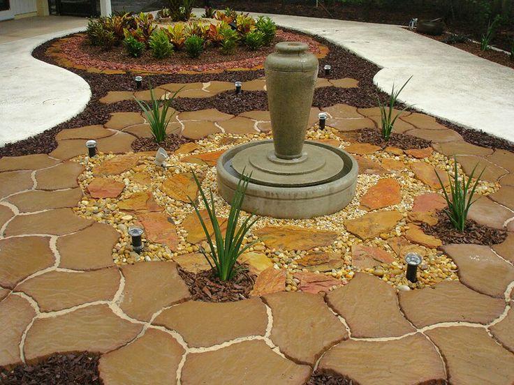 Great idea for backyards that cant grow grass grassless for Grassless garden designs