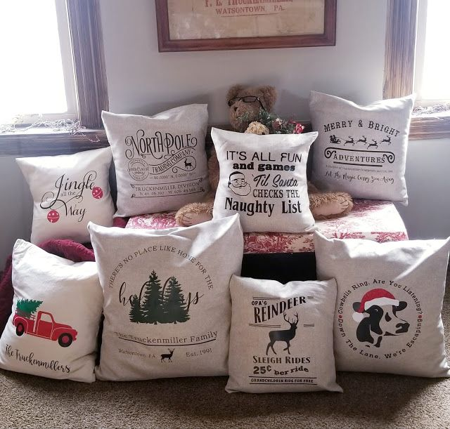 Making Christmas Throw Pillows | Diy throw pillows ...