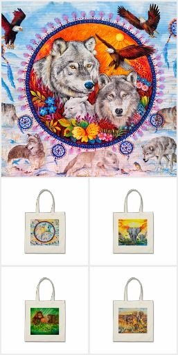 Beautiful Tote bags with the original designs from my paintings - 40% OFF TOTE BAGS https://www.zazzle.co.uk/kompas #bags #alanjporterart #animals #horses #totebags #christmas #gift #present #elephants #wolf #tigers #orangutans #chimpanzee #dolphines #indian #nativemerican #polarbears #zazzle