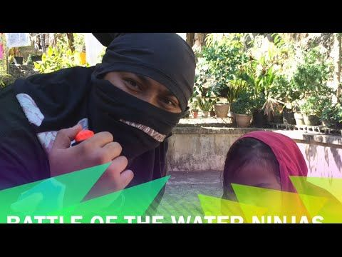 FUNNY WATER NINJA BATTLE: Playtime with Daddy and Coffee