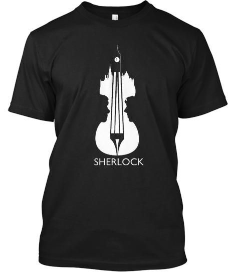Are you a Sherlock Holmes afficionado?  Then you'll LOVE this (limited edition) shirt in celebration of the BBC Series  Merchandise is strictly limited and will ONLY be available for a few days so be sure to reserve yours today. Hoodies and Girls tops also available!  Each shirt is 100% American made and comes with a money back guarantee!
