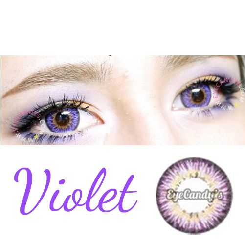 Violet Circle Lenses, Purple Colored Contacts, Cosmetic ...
